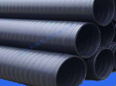 HDPE双平壁钢塑缠绕管